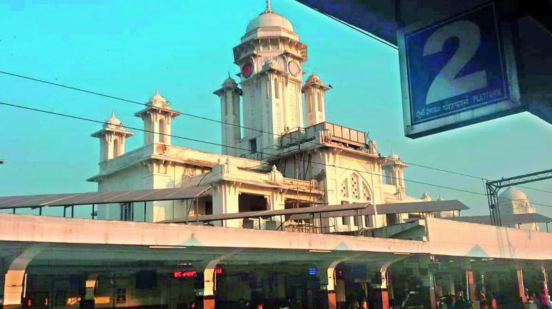 The Kacheguda station is more than 100 years old. The lime plaster on the walls of railway station is deteriorating.
