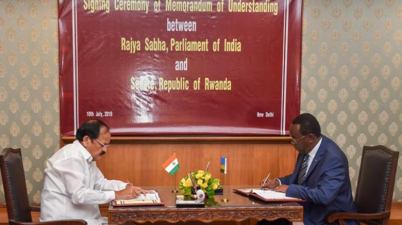 The MoU, with 6 articles of cooperation, seeks to promote inter-parliamentary dialogue, capacity building of the parliamentary staff, organisation of conferences, forums, seminars, staff-attachment programmes, workshops and exchanges. (Photo: PTI)