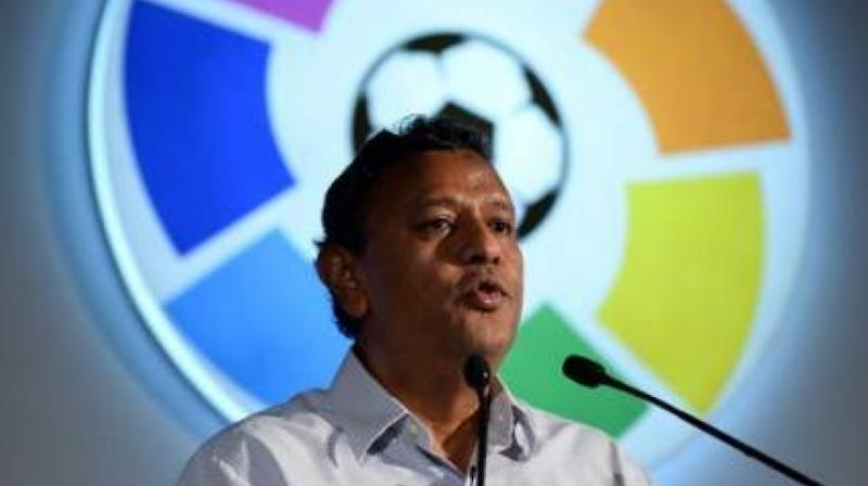 The All India Football Federation (AIFF) signed a Memorandum of Understanding (MoU) with its German counterpart, DFB, here on Friday. Kushal Das, General Secretary AIFF and Friedrich Curtius, General Secretary DFB, signed the document to formalise the relationship between the two football governing bodies. (Photo:AFP)