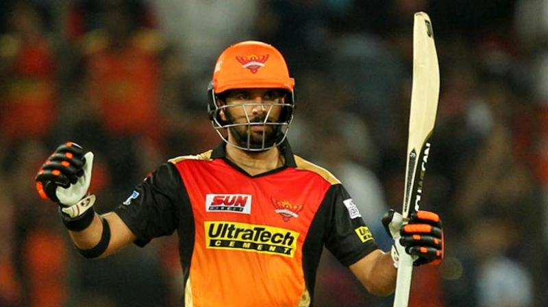 Image result for yuvraj Singh sunrisers hyderabad