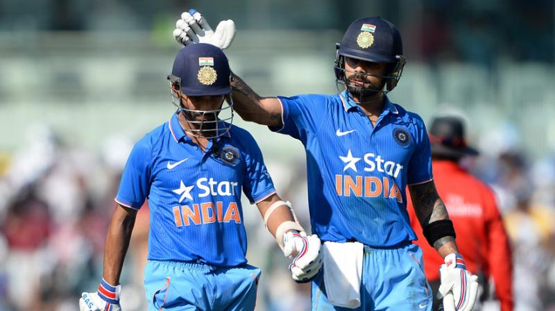 Indian skipper Virat Kohli on Wednesday said the experimentation in the middle-order will continue for some more time though the conditions make Ajinkya Rahane a strong No. 4 candidate for the World Cup in England next year.(Photo: AFP)