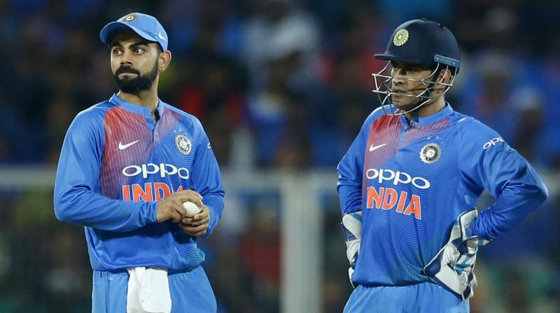 While Virat Kohli has succeeded MS Dhoni to lead the Indian side across formats, the former India skipper has been of a great help to Kohli in limited-overs cricket. (Photo: AP)