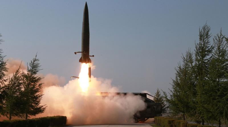 Defence officials in Seoul said what appeared to be two short-range ballistic missiles were fired at daybreak from near the northeastern city of Hamhung, flying 400 kilometres (250 miles) before splashing down in the sea. (Photo: Representational)