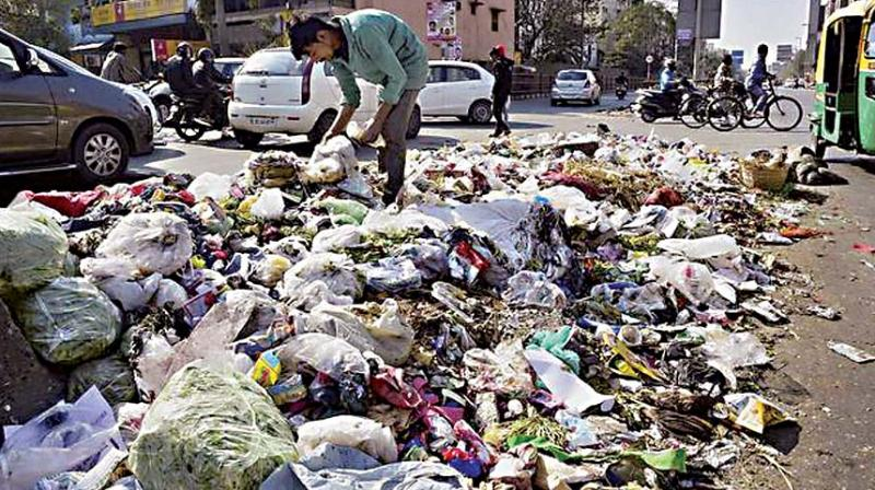 Another officer said they will discuss the issue and also ask Pourakarmikas not to collect garbage from houses, hotels or other places which store garbage in plastic covers.
