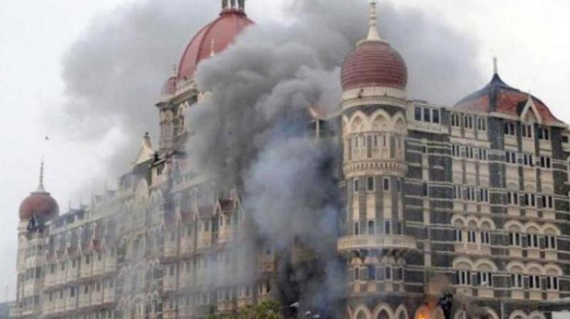 File photo of the November 26, 2008 Mumbai terror attacks outside Taj. (Photo: PTI)