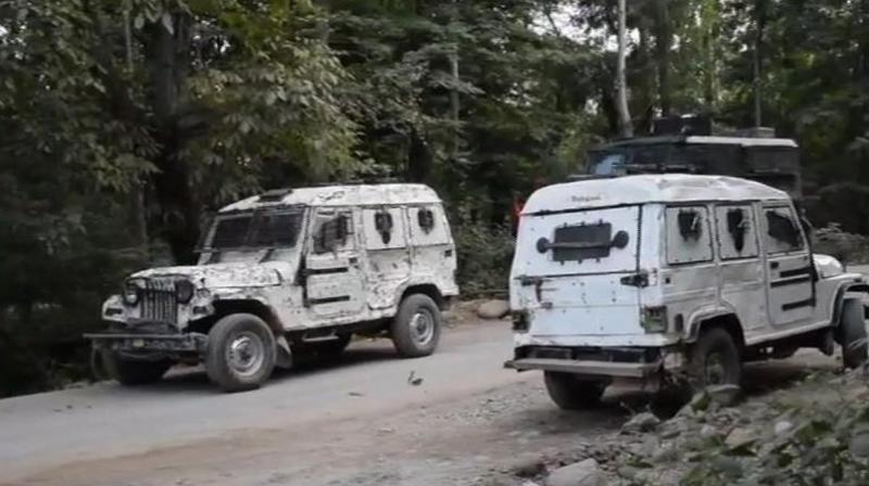 'Four more terrorists have been killed in the operation at Kiloora in Shopian. One terrorist was killed last night,' an Army official said, adding the operation was still going on. (Photo: Twitter | ANI)