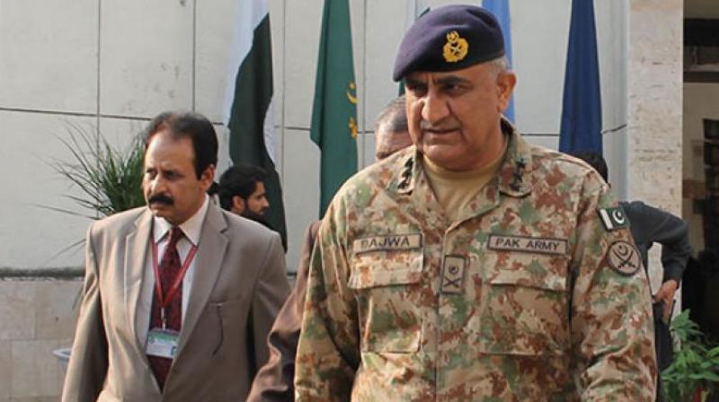 Pakistan Army chief Gen Qamar Javed Bajwa. (Photo: Videograb)