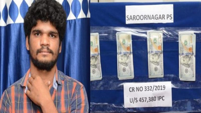 Police on Saturday arrested 26-year-old Naik and recovered 5000 US dollars from his possession. (Photo: ANI)