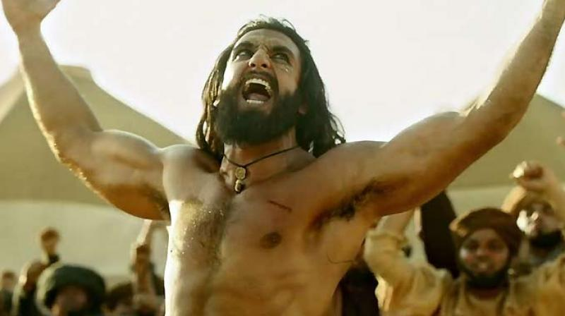 Ranveer Singh in a still from 'Padmaavat.'