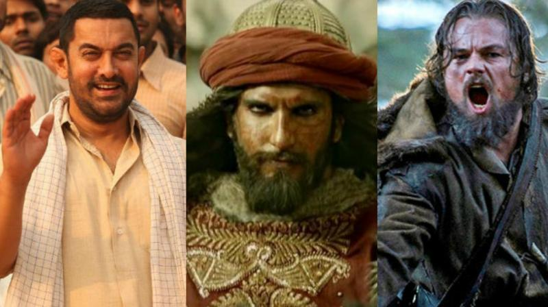 Aamir Khan, Ranveer Singh and Leonardo Dicaprio