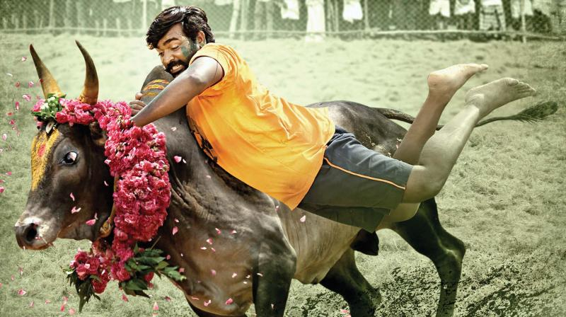Still from Karuppan movie