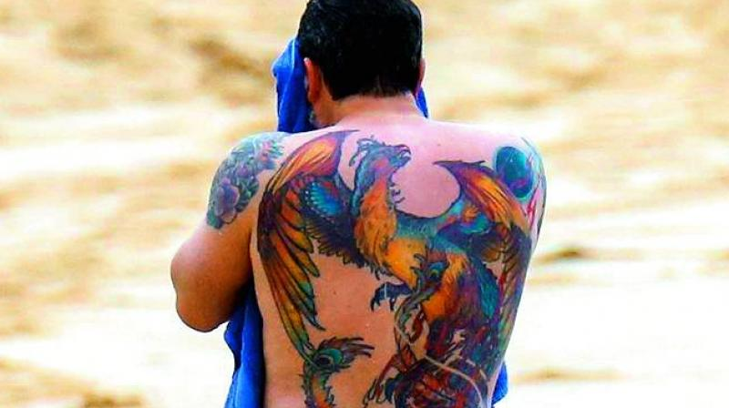 Ben Affleck was photographed while on vacation in Hawaii about a year ago with his colourful phoenix tattoo on full display, and was trolled mercilessly for it.