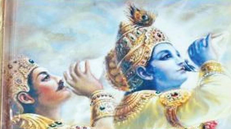 So long as one is living, it is not possible to give up action. The inevitability of action is an undeniable truth. This was explained and proved by Lord Krishna to Arjuna in the Bhagvad Gita.