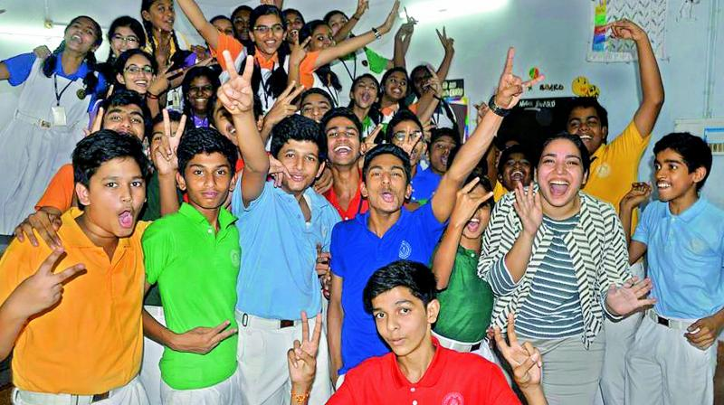 Preeti in a workshop with school students.