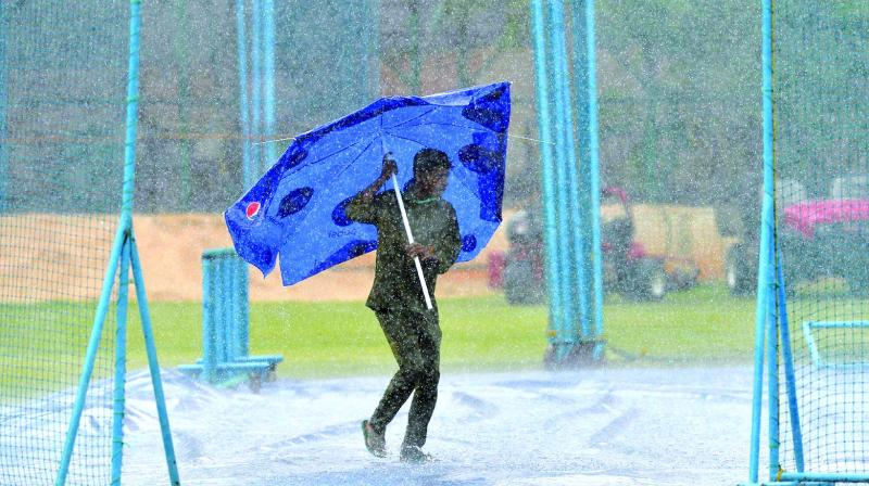 Afghanistan's training session on Wednesday was disrupted by heavy rain.	 (Photo:AFP)