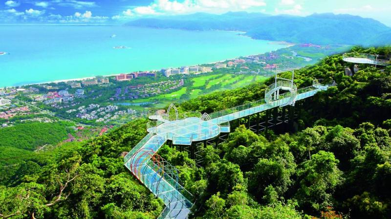 Glass Bridge, Yalong Bay Tropical Paradise Forest Park.