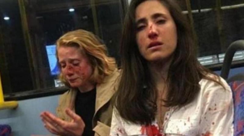 Police said the incident happened in the early hours of May 30 after the two women got on the bus in north London headed to the Camden Town neighbourhood. (Photo: Facebook/ Melania Geymonat)