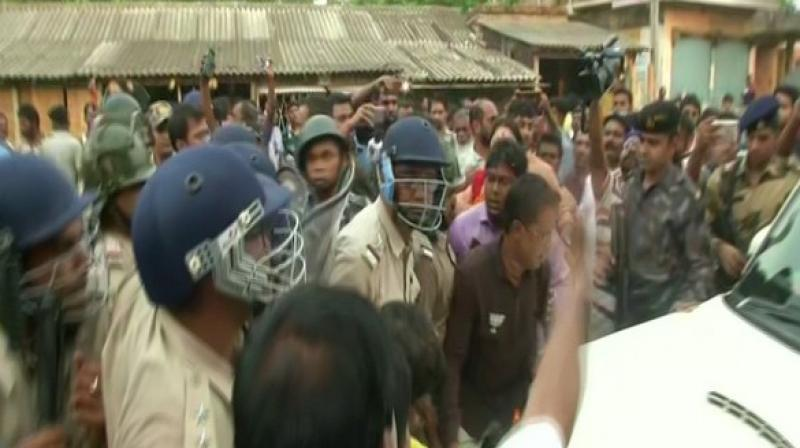 The deaths took place on Saturday during a clash between workers of the two parties in the city of North 24 Parganas. (Photo: ANI)