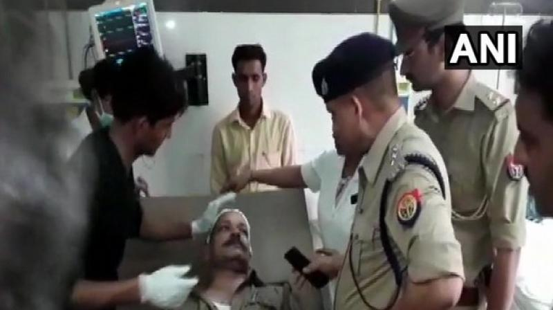 A few police personnel have sustained injuries in the attack and have been provided medical care. One officer has been admitted to a hospital. (Photo: ANI)