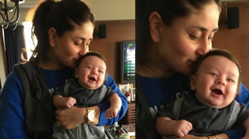 Kareena Kapoor enjoying a beautiful moment with her son- prince Taimur.