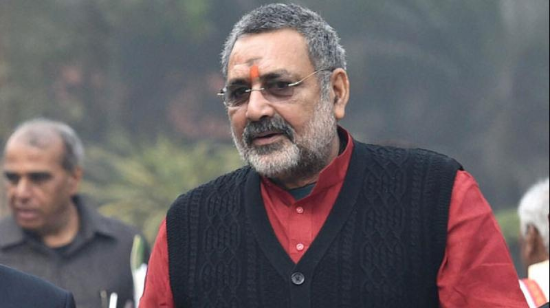 The newly elected MP from Begusarai, Giriraj Singh on Tuesday slammed All India Majlis-e-Ittehadul Muslimeen (AIMIM) chief Asaduddin Owaisi for his response over 'Muslim hawker shot at in Begusarai'. (Photo: File)