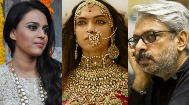 Swara Bhasker informed the audiences about the open letter slamming Sanjay Leela Bhansali's 'Padmaavat' on Twitter.