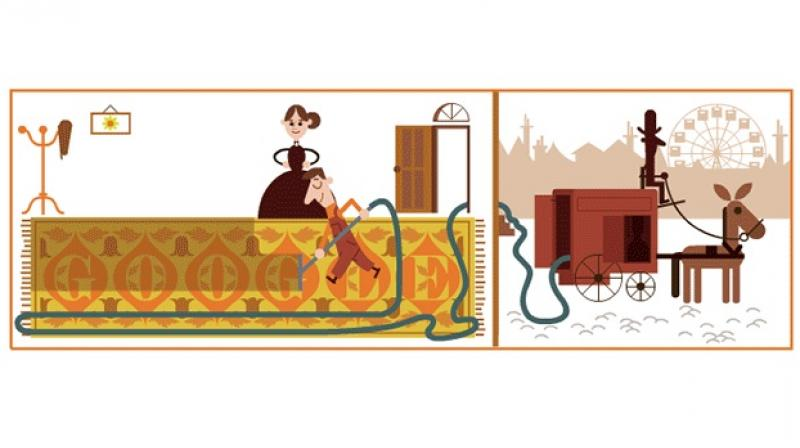 Google Doodle celebrates British engineer Hubert Cecil Booth. (Photo: Google Doodle)