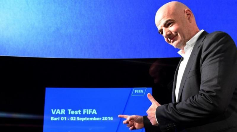 Infantino said VAR had been shown to reduce the number of refereeing mistakes in matches where it has been used. (Photo: AFP)