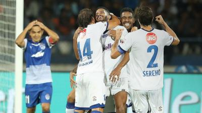 Favourites Bengaluru will have their task cut out against Chennaiyin FC, who have made the summit due to their hard work and perseverance.(Photo: ISL Media)