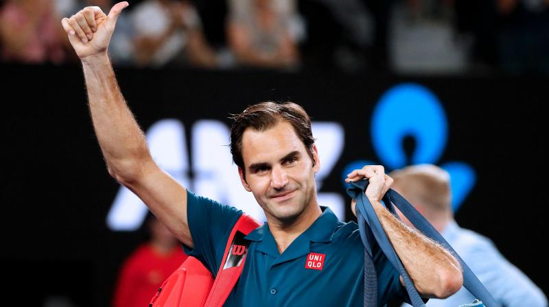 Fourth seed Federer broke back the next game and seized the momentum when he blasted a cross-court forehand winner to break Krajinovic again and take the closely fought first set.  (Photo: AFP)