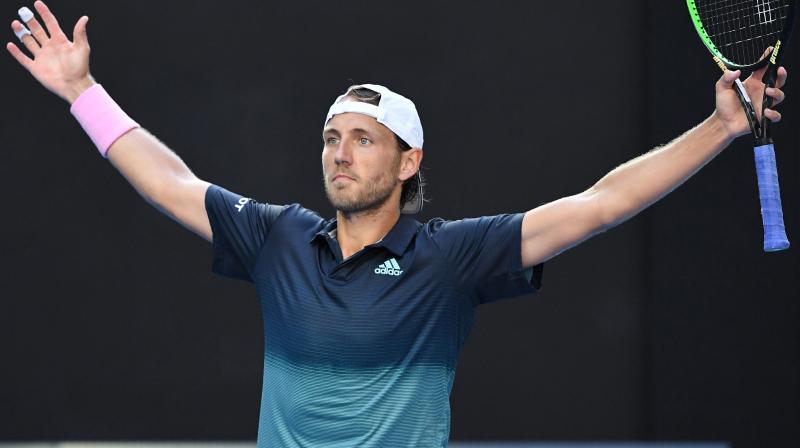 Pouille fought back from a break down in the first set to win 7-6 (7/4), 6-3, 6-7 (2/7), 6-4 and reach the last four of a Slam for the first time. (Photo: AFP)