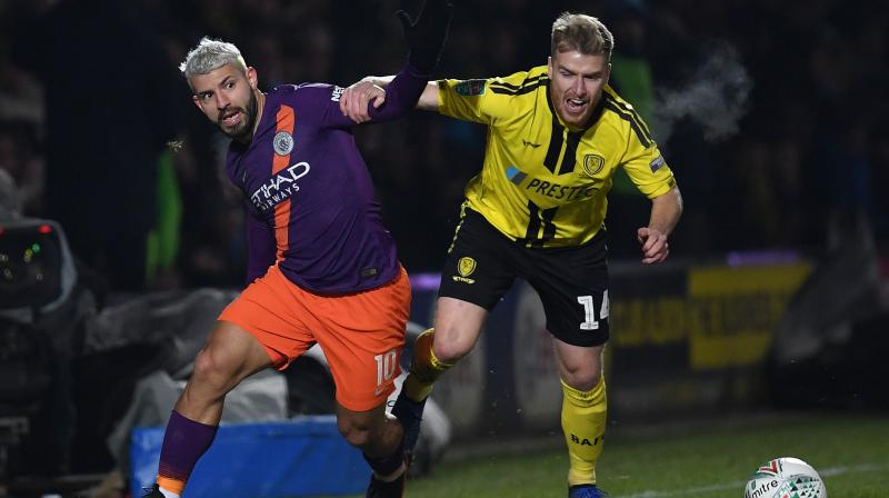 Inevitably, City took it easier on the third tier minnows this time and Sergio Aguero's first-half strike was the only goal of a low-key second leg. (Photo: AFP)