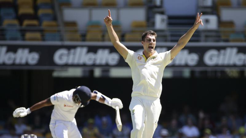 Led by a brilliant display of fast bowling from Pat Cummins, the Australians dominated a Sri Lankan outfit that never came to terms with the pace and bounce of the Gabba wicket. (Photo: AP)