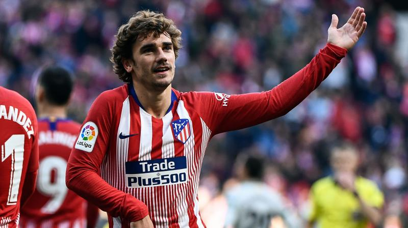 Antoine Griezmann celebrates a goal during the Spanish league football match between Atletico Madrid and Getafe at the Wanda Metropolitano stadium. (Photo: AFP)