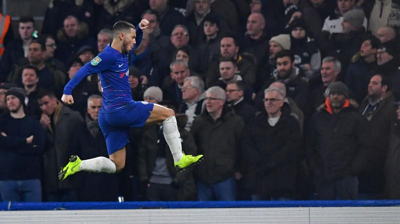 """Sarri branded Hazard """"more an individual player than a leader"""" last week and has routinely called for his star forward to hit the heights he showed early in the season on a more consistent basis. (Photo: AFP)"""