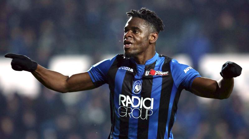 A Duvan Zapata brace after Timothy Castagne's opener put Atalanta through to a semi-final meeting with Fiorentina. (Photo: AP)