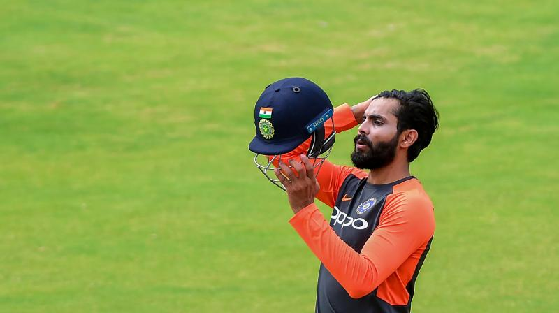 Jadeja, who had a shoulder stiffness couldn't feature in the second Test in Perth and coach Ravi Shastri told the mediapersons that the player was carrying the niggle from India. (Photo: PTI)