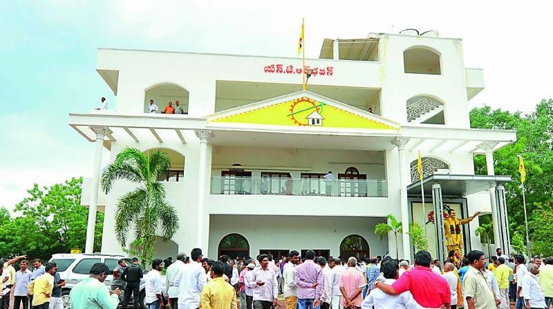 Telugu Desam party office at Guntur.(Photo: DC)