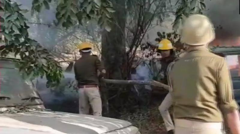 As tension prevailed in the area, policemen from several police stations have been rushed along with senior officials to take control of the situation, police said. (Photo: ANI   Twitter)