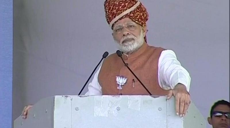 Prime Minister Modi, in his speech, also accused the Congress of spreading lies. (Photo: ANI)