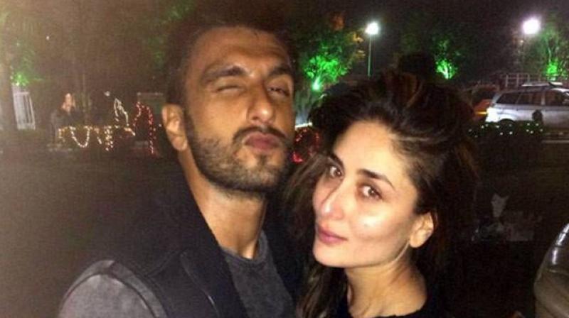 Ranveer Singh and Kareena Kapoor Khan at a party.
