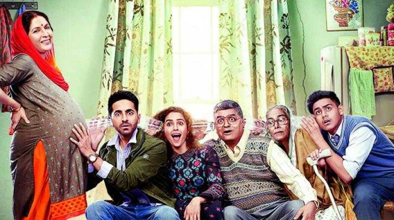 A poster of the film Badhaai Ho.