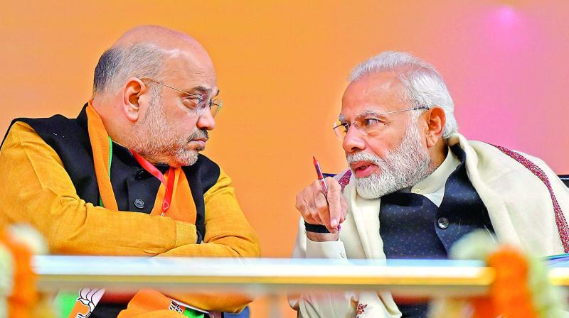 BJP is all set to contest the coming Lok Sabha election under Prime Minister Modi's leadership (File Photo)