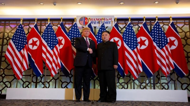 """US President Donald Trump said on Wednesday he was """"in no rush"""" to make a deal with North Korea to get it to dismantle its nuclear weapons program, and touted what he called his positive relationship with North Korean leader Kim Jong Un. (Photo:AP 