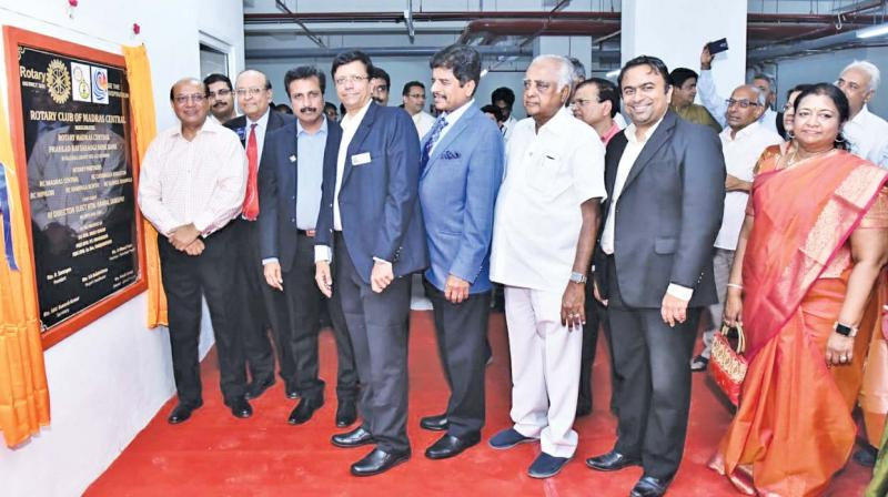 The bone bank inaugurated in Cancer Institute (WIA) Adyar, Chennai, by Rtn. Kamal Sanghvi, Rotary International Director-Elect.