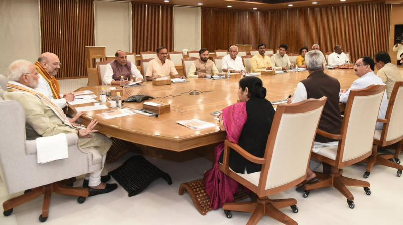 BJP's central election committee on Sunday held a meet in New Delhi to finalise the second list of its candidates. (Photo: Twitter/@AmitShah)