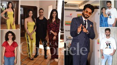 Bollywood celebs like Ranveer Singh, Vidyut Jammwal, Sanya Malhotra, Radhika Madan, Abhimanyu Dassani and others were spotted in the city of dreams Mumbai for promotional events. (Pictures: Viral Bhayani)