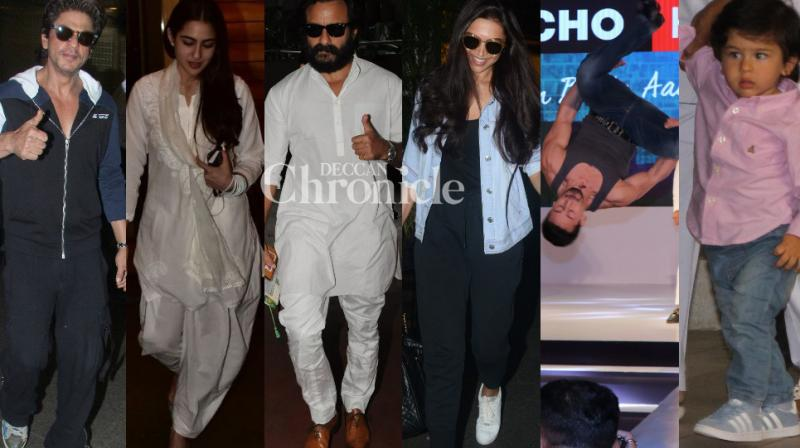 Bollywood stars grabbed eyeballs by being spotted at various events and locations in Mumbai on Tuesday. (Photos: Viral Bhayani)