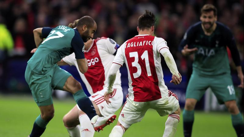 Tottenham looked down and out at the break as they trailed 2-0, 3-0 on aggregate, but were transformed in the second half with Brazilian Lucas Moura, Kane's stand-in, scoring a hat-trick to send the Londoners through on away goals. (Photo: AP)