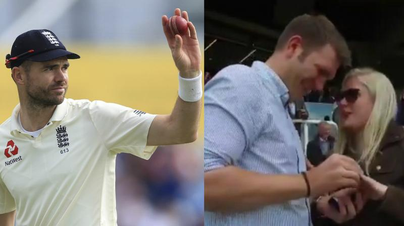 Apart from James Anderson, it was a match to remember for a young couple seated in the stands.(Photo: AP / Screengrab)